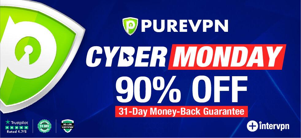 purevpn cyber monday 90 off - purevpn coupon code