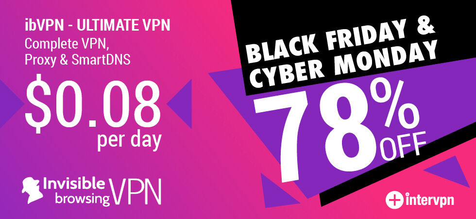 ibVPN Black Friday & Cyber Monday