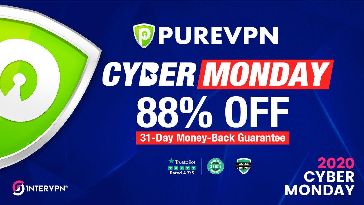 PureVPN Cyber Monday 88 off - PureVPN Coupon Code