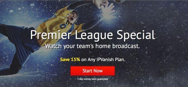 Barclays Premier League Promo – Save 15% on IPVanish